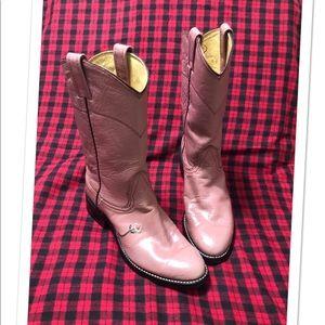 Nocona//Dusty rose vintage western boots
